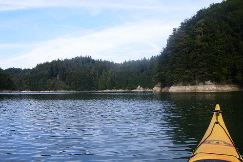 Ballade en Kayak sur le lac de la Gruyère