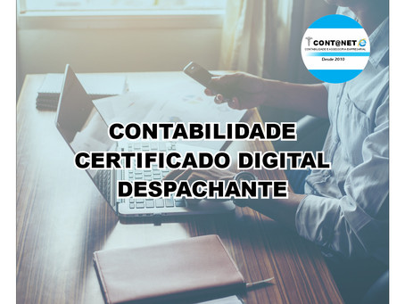 CERTIFICADO DIGITAL AGORA É NA CONTANET CONTABILIDADE Emitimos todos os tipos de Certificados