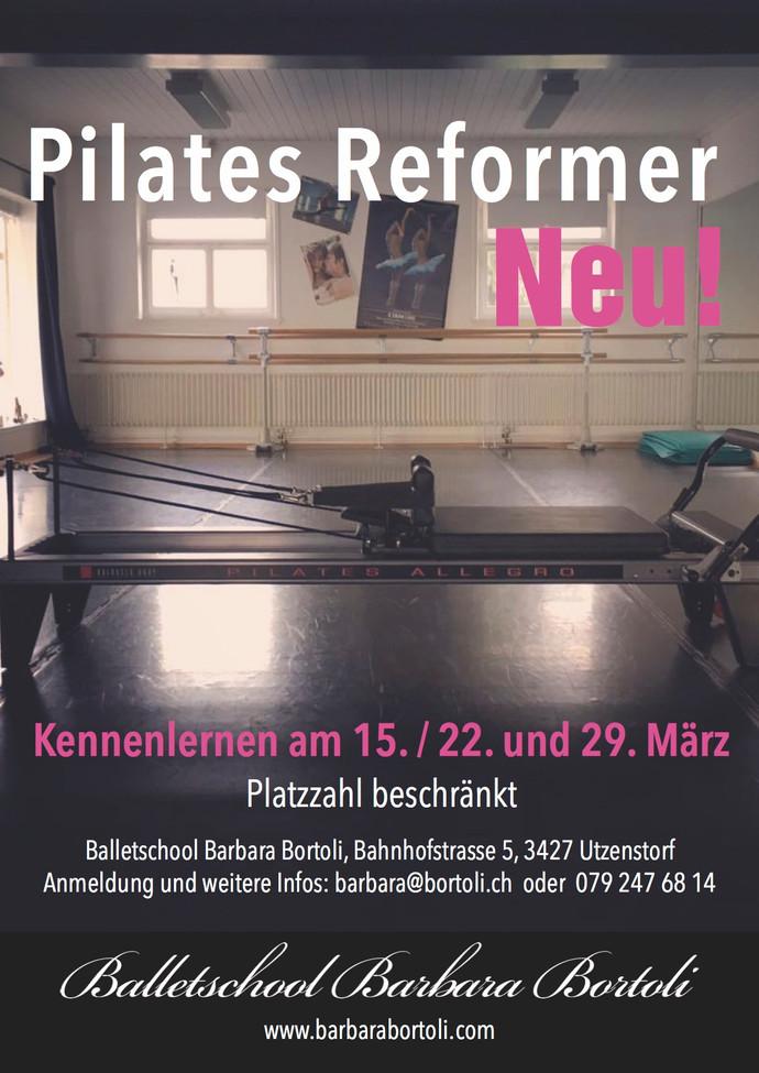 Neues Kursangebot: Pilates Reformer