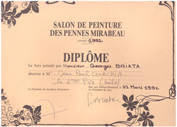 1992 DIPLOME PENNES MIRABEAU