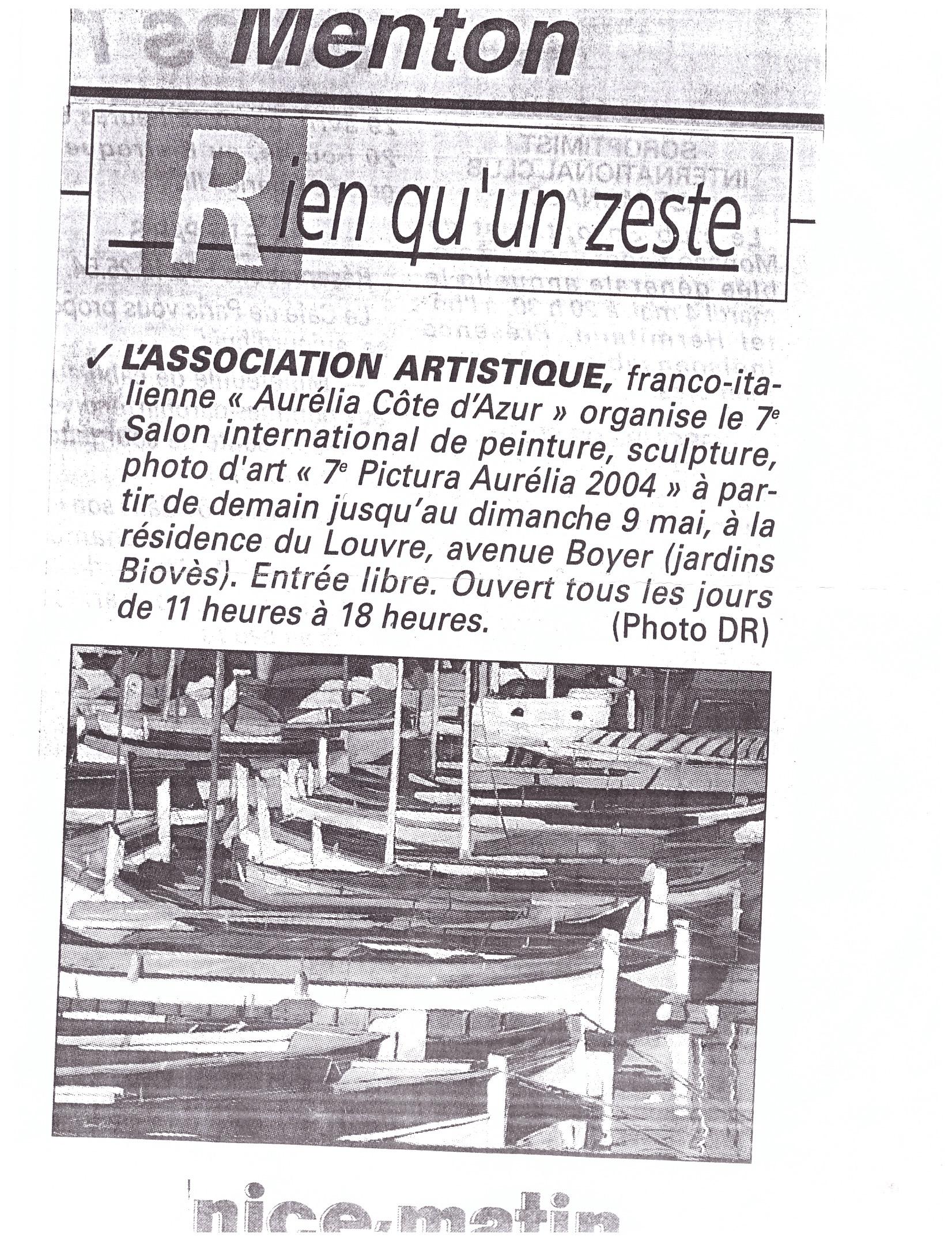 2004 MENTON RIEN QU UN ZEST 1