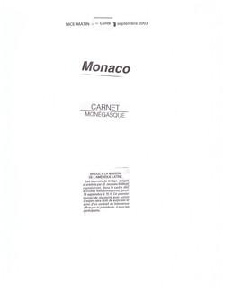 2003 MONACO P 18