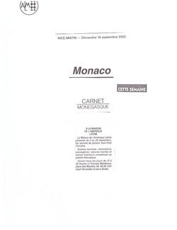 2003 MONACO P 25