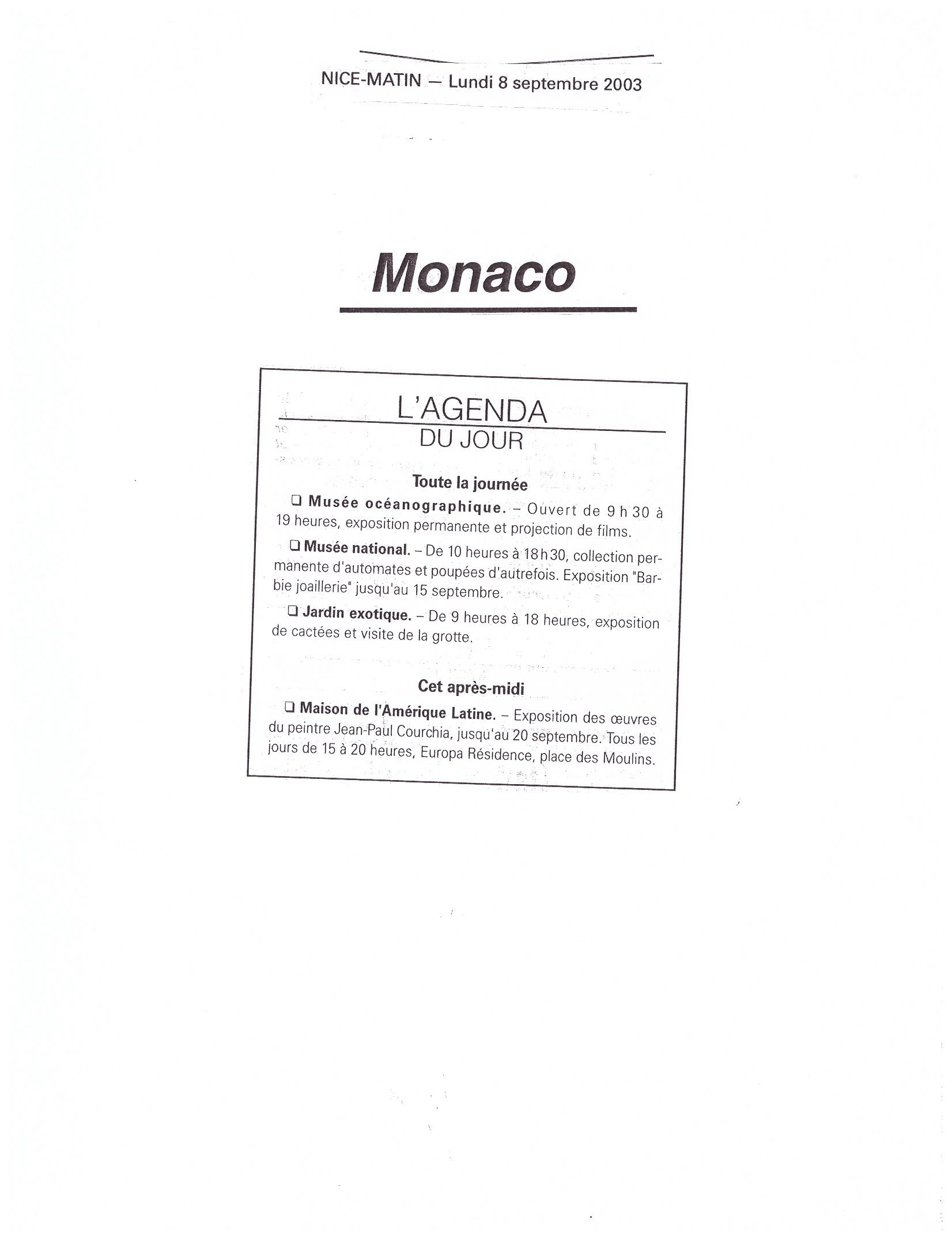 2003 MONACO P 17