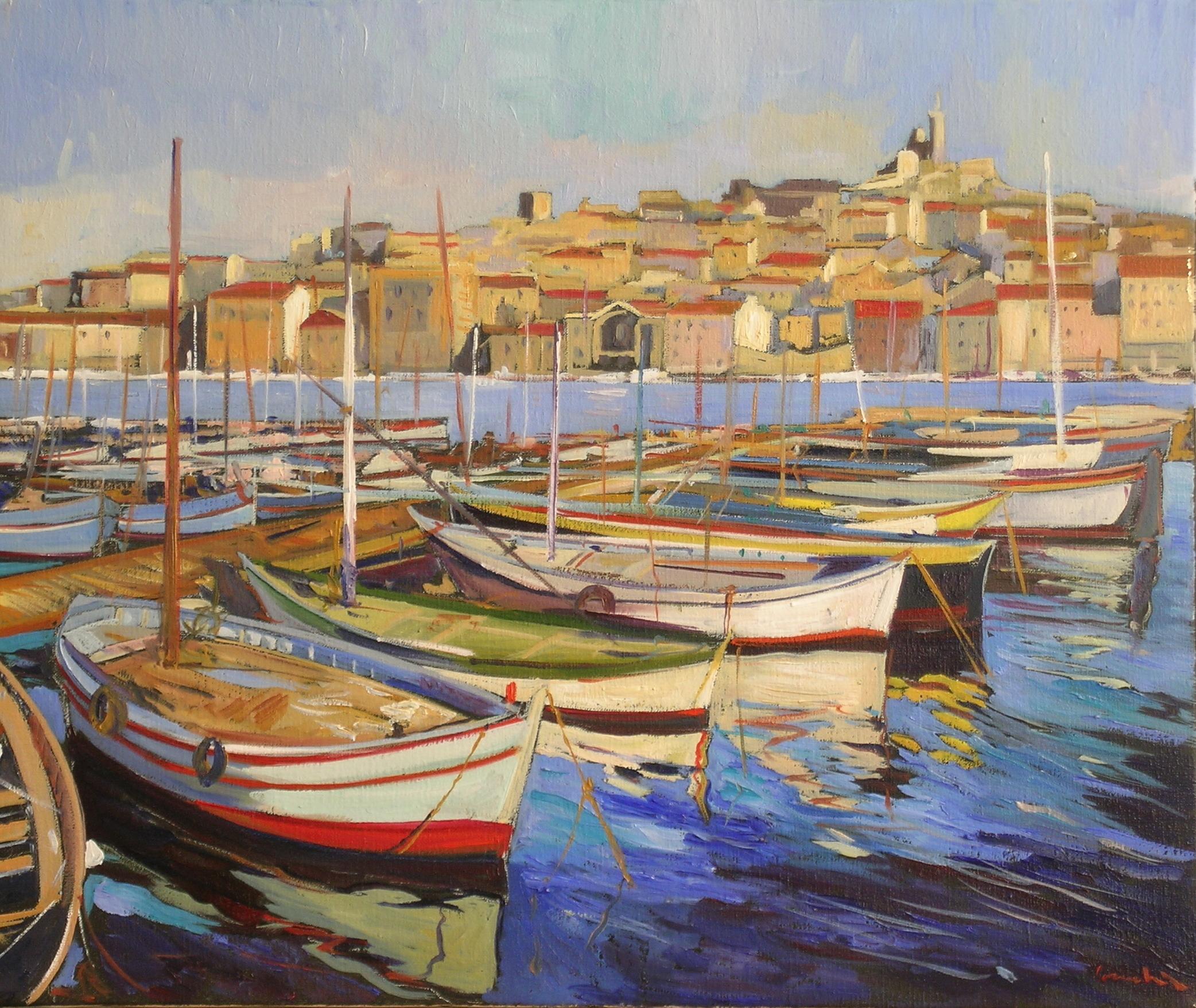 barques dans le port (hangart)
