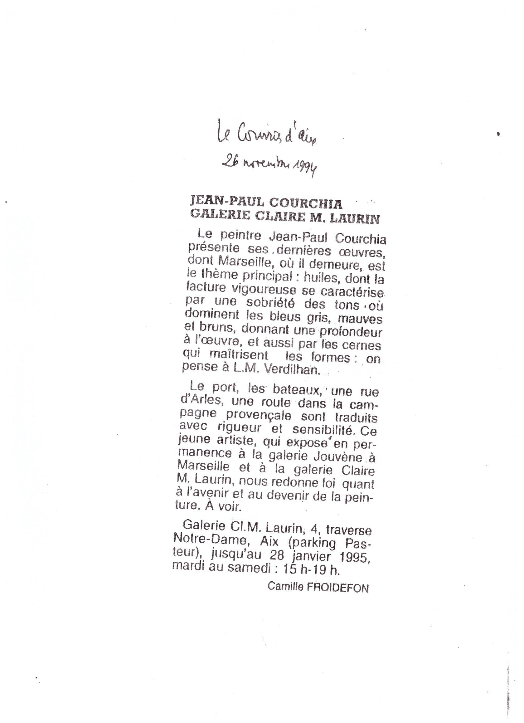 1994 LE COURIER D AIX