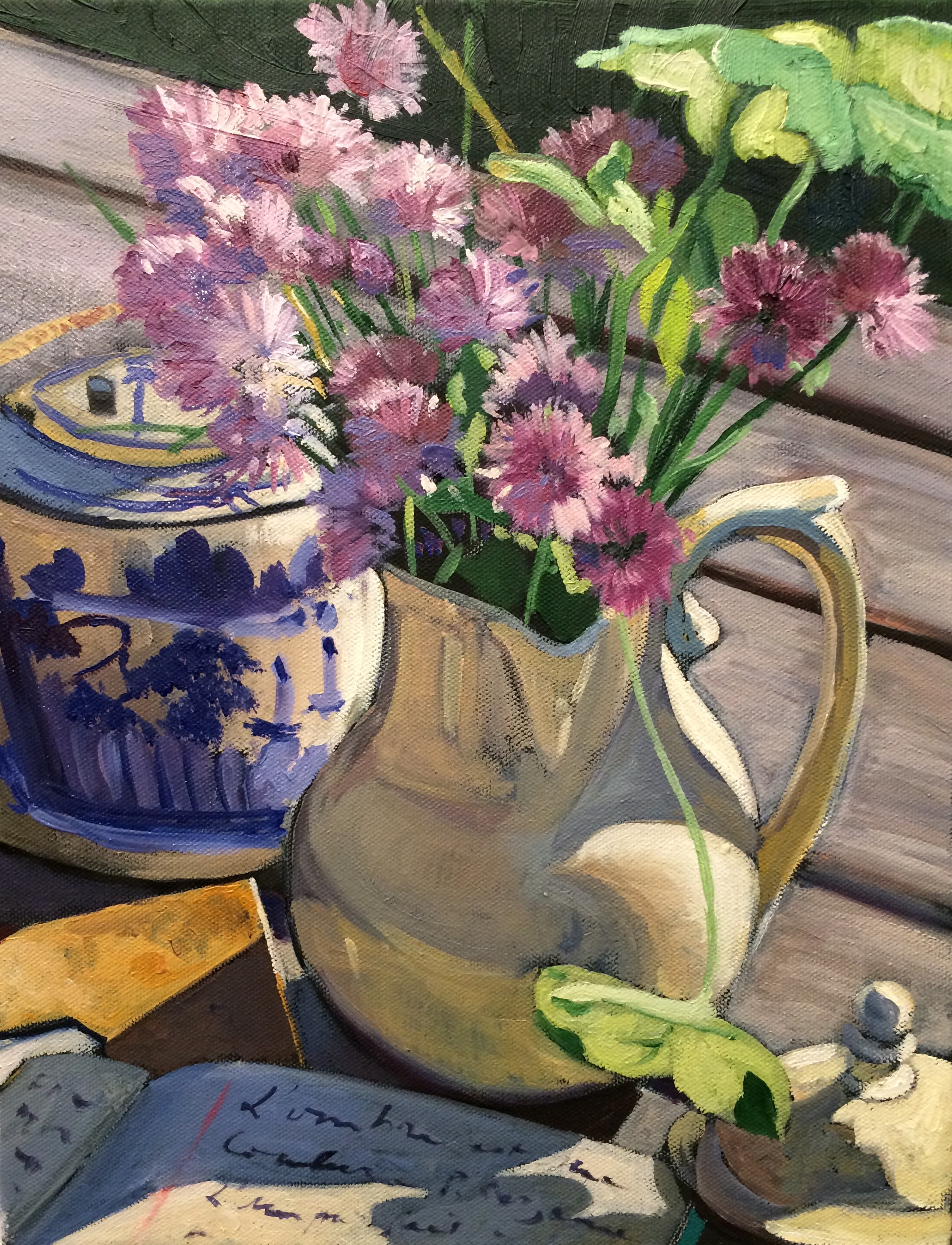 Pichet et fleurs