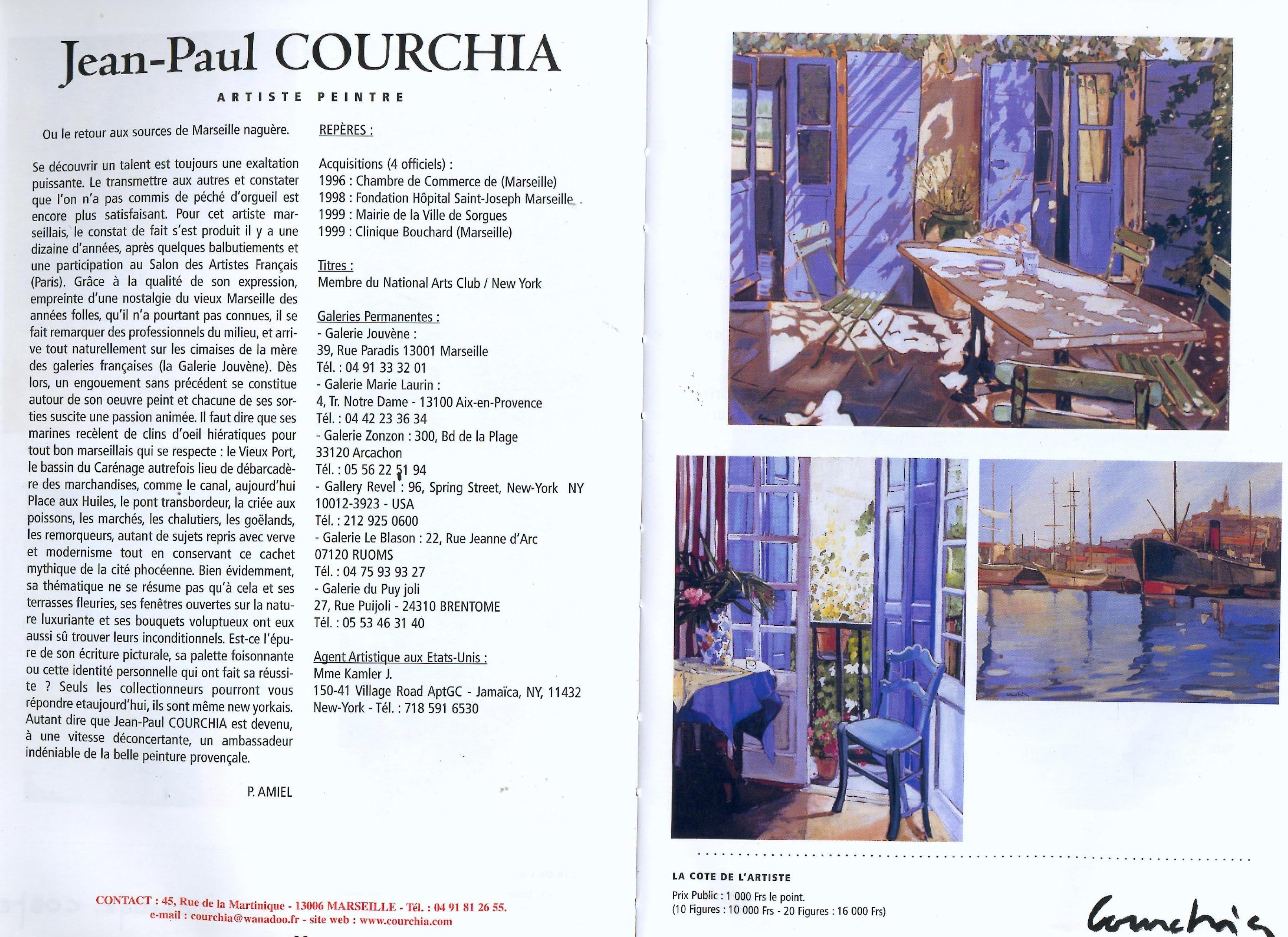 2001 COTE DES ARTS ANNUAIRE