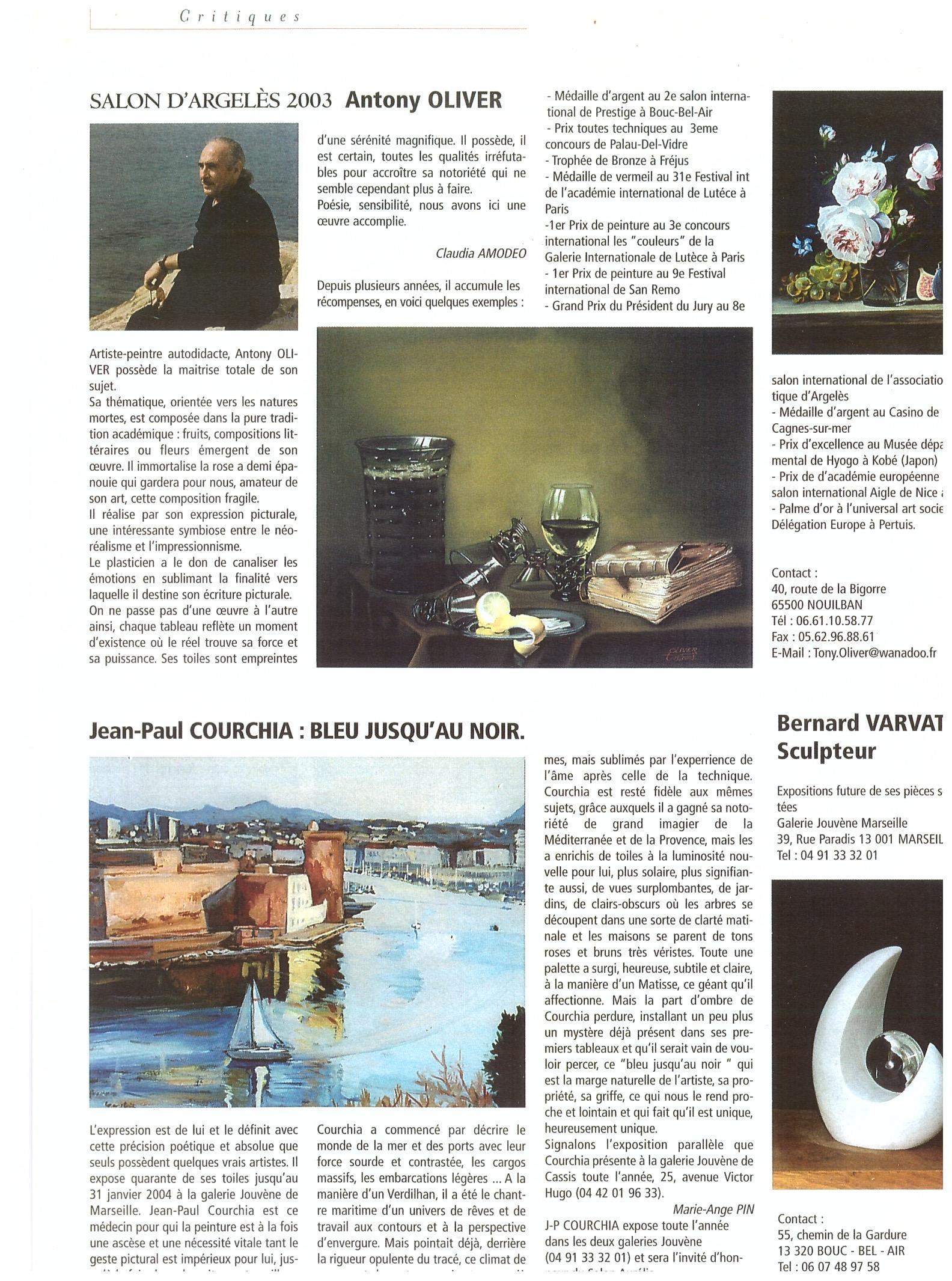 2003 COTE ARTS 28 bleu jusqu au noir