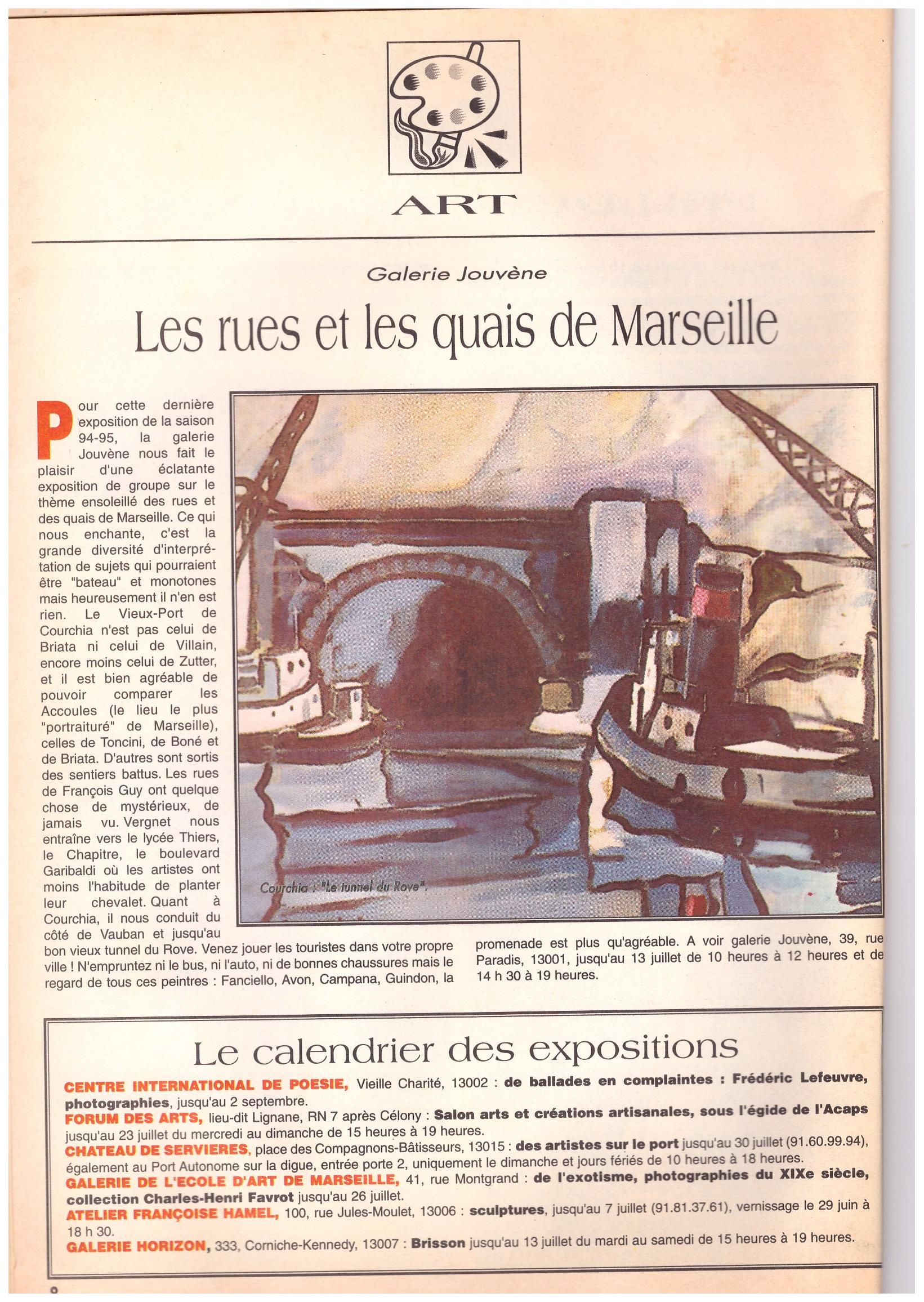 1995 NOUVELLES PUBLICATIONS TUNNEL DU ROVE