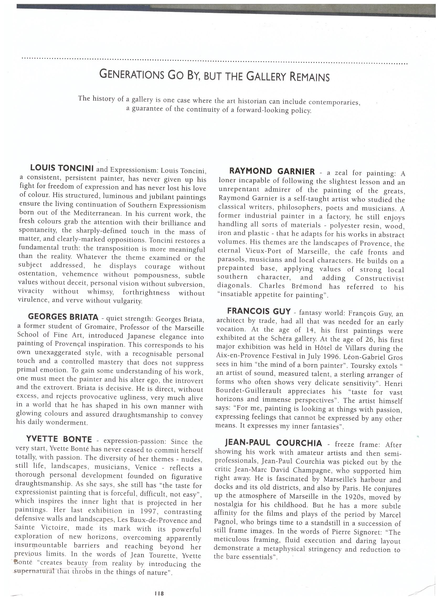 2008 MAITRES PROVENCAUX ENGLISH