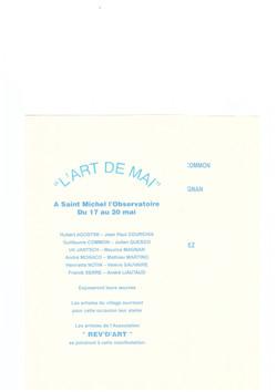 2001 ART DE MAI 2