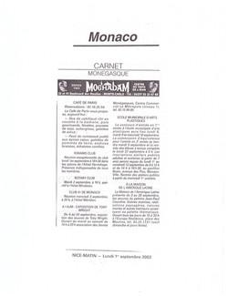 2003 MONACO P 7