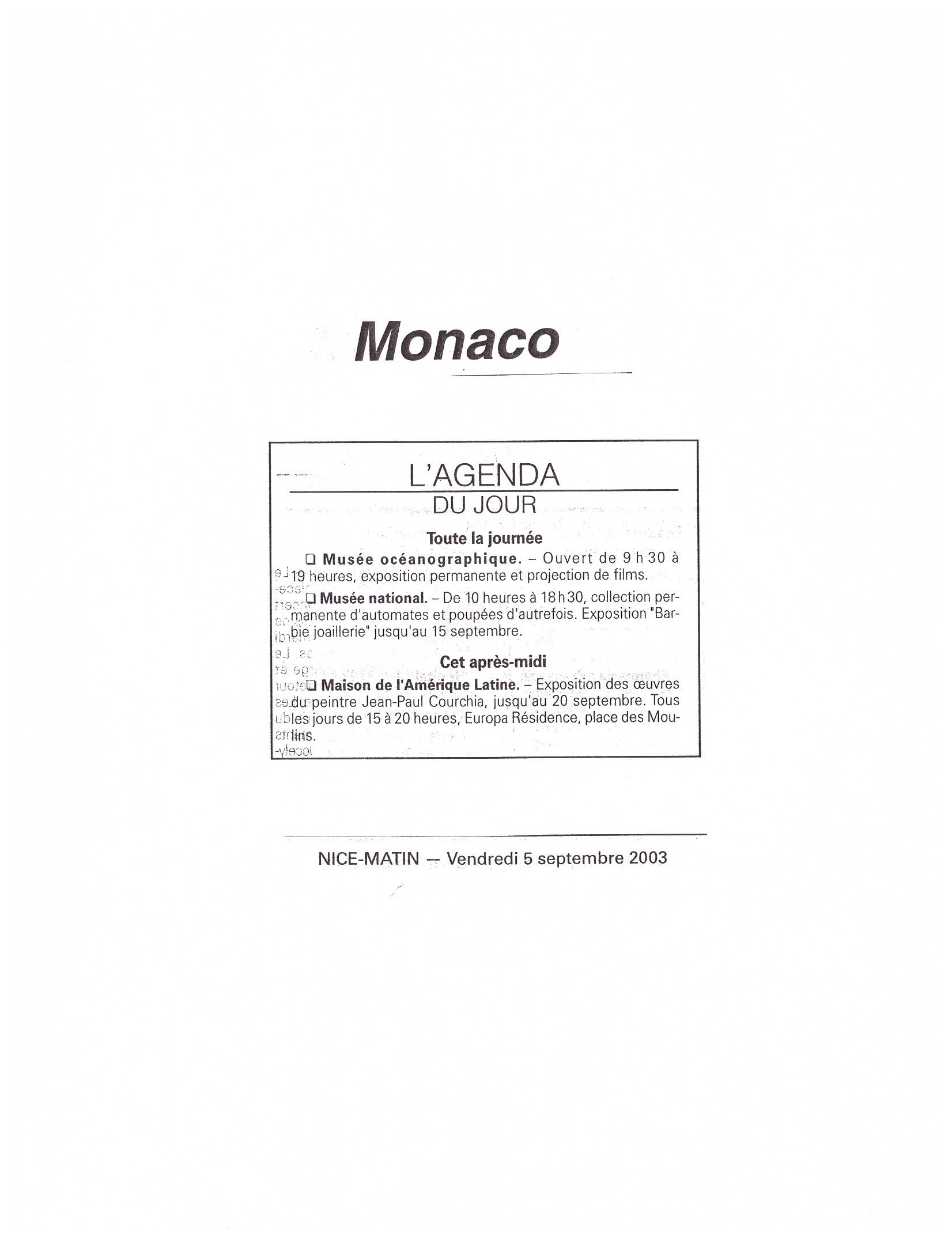2003 MONACO P 16