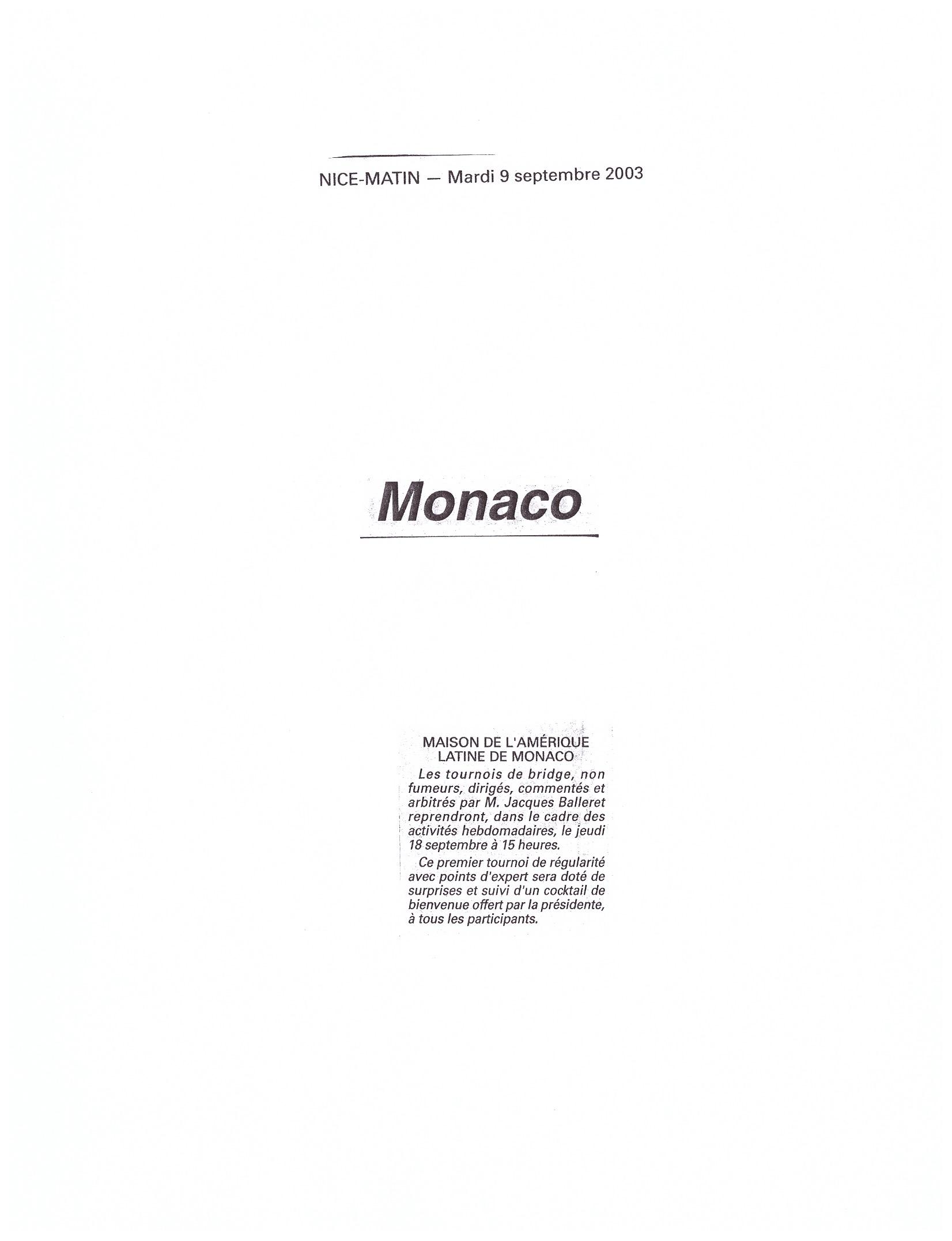 2003 MONACO P 20