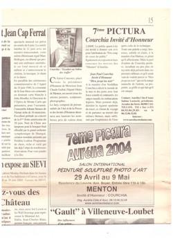 2004 LES ECHOS DU PALAIS MENTON