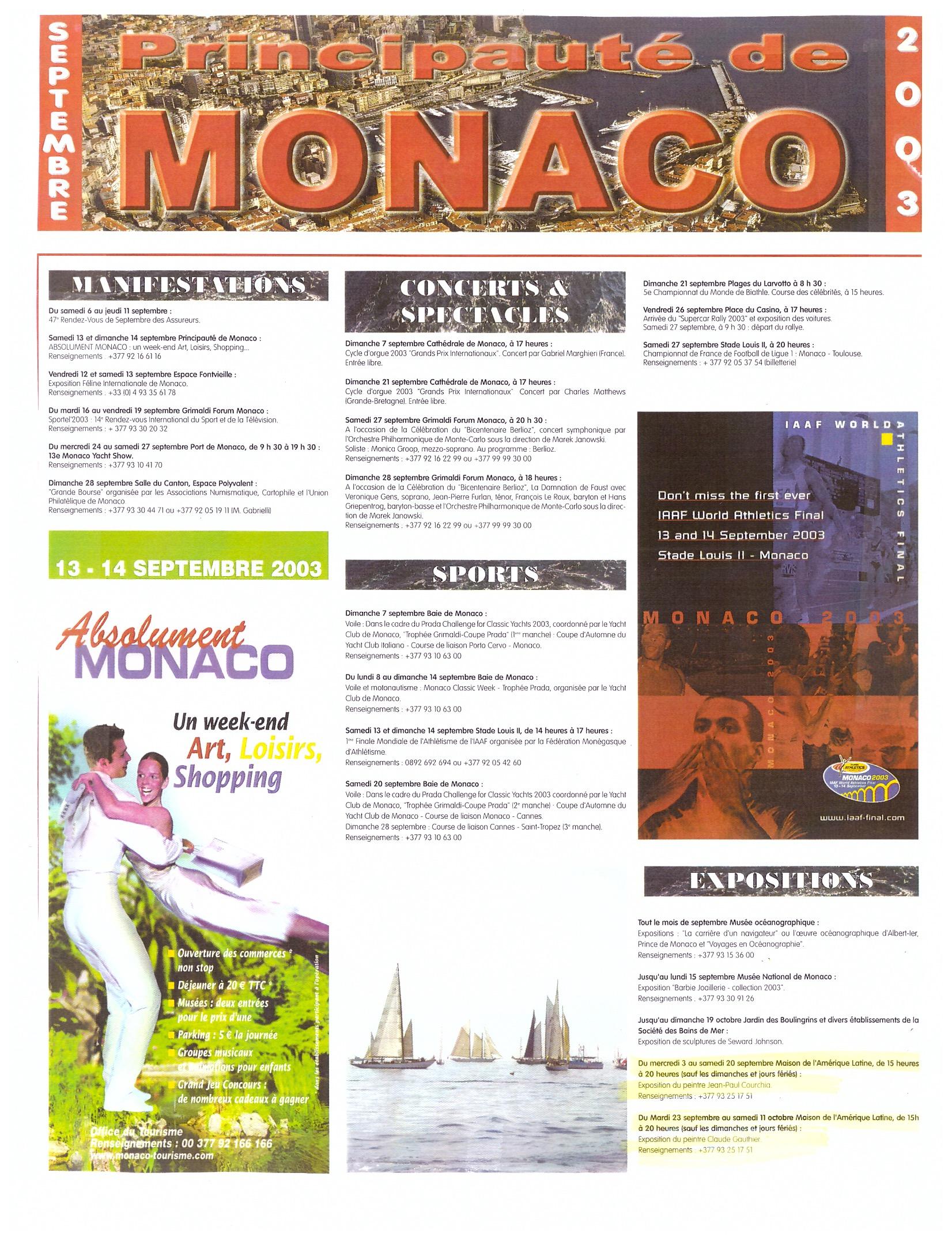 2003 MONACO P 3