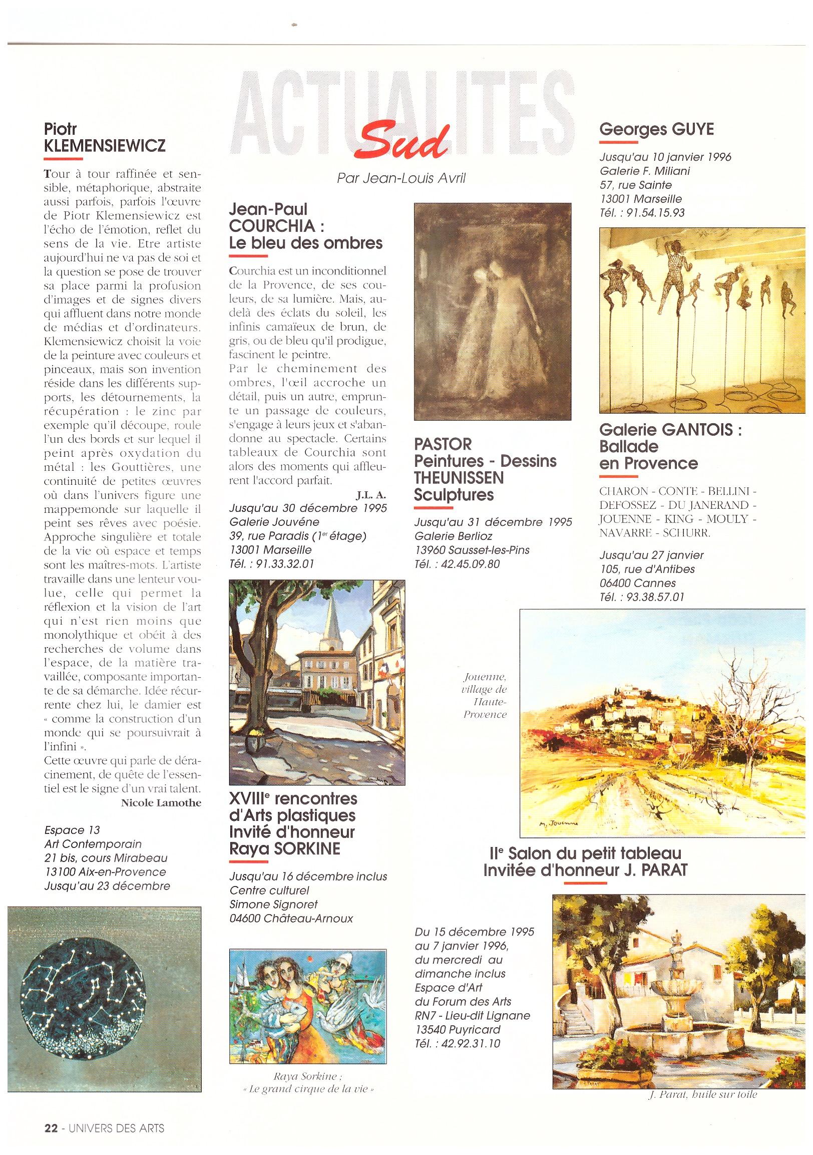 1995 UNIV DES ARTS