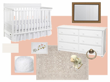 Baby Girl's Floral Nursery with Vintage Accents