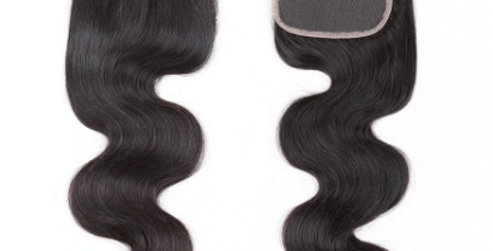 Indian Raw Remy body Wave Hair 4 x 4 Closure
