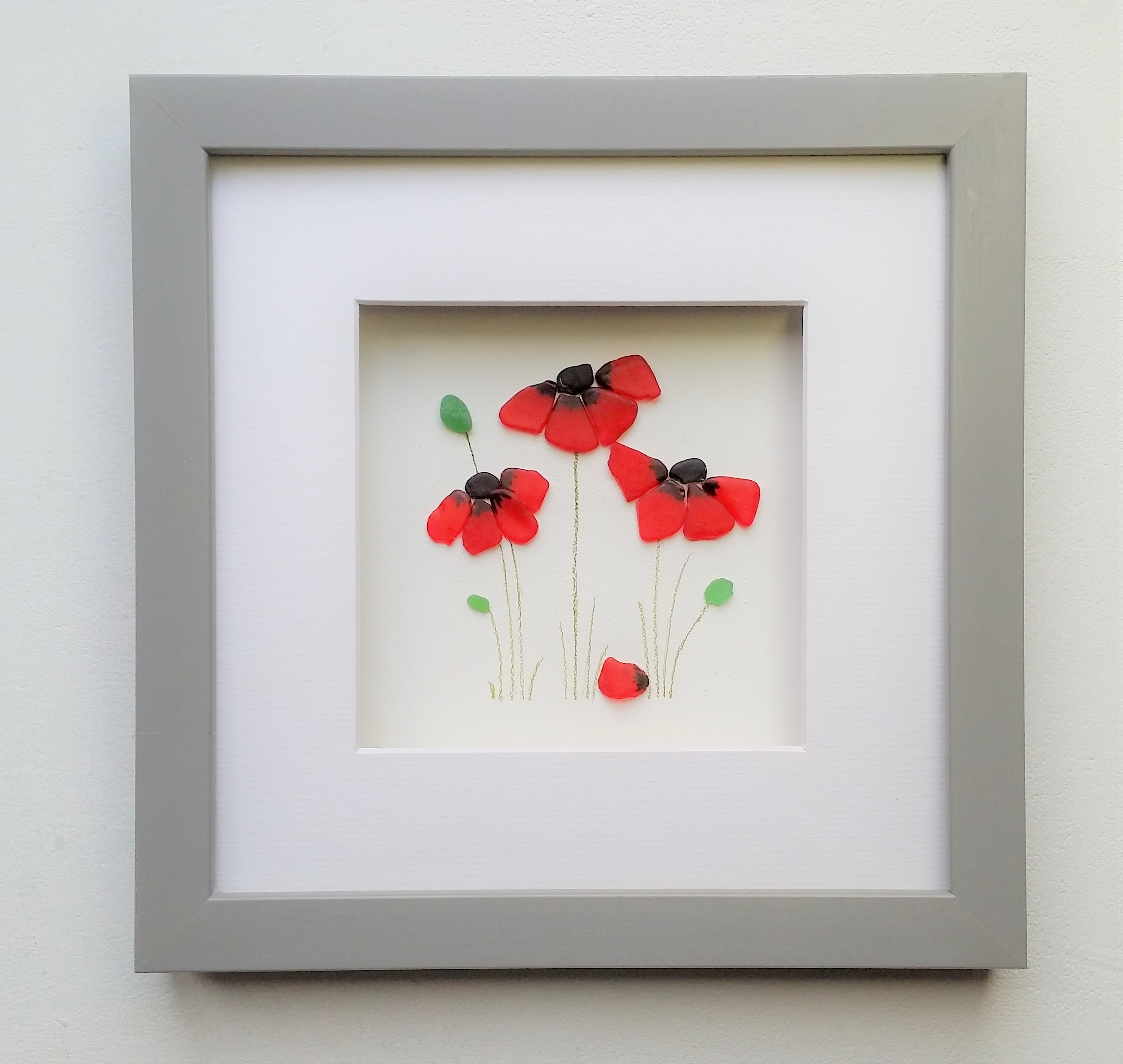 sea glass poppies-mothers day gift