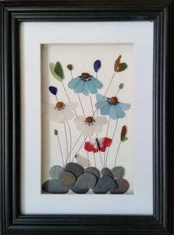 Sea Glass Flowers 26cm x 35cm