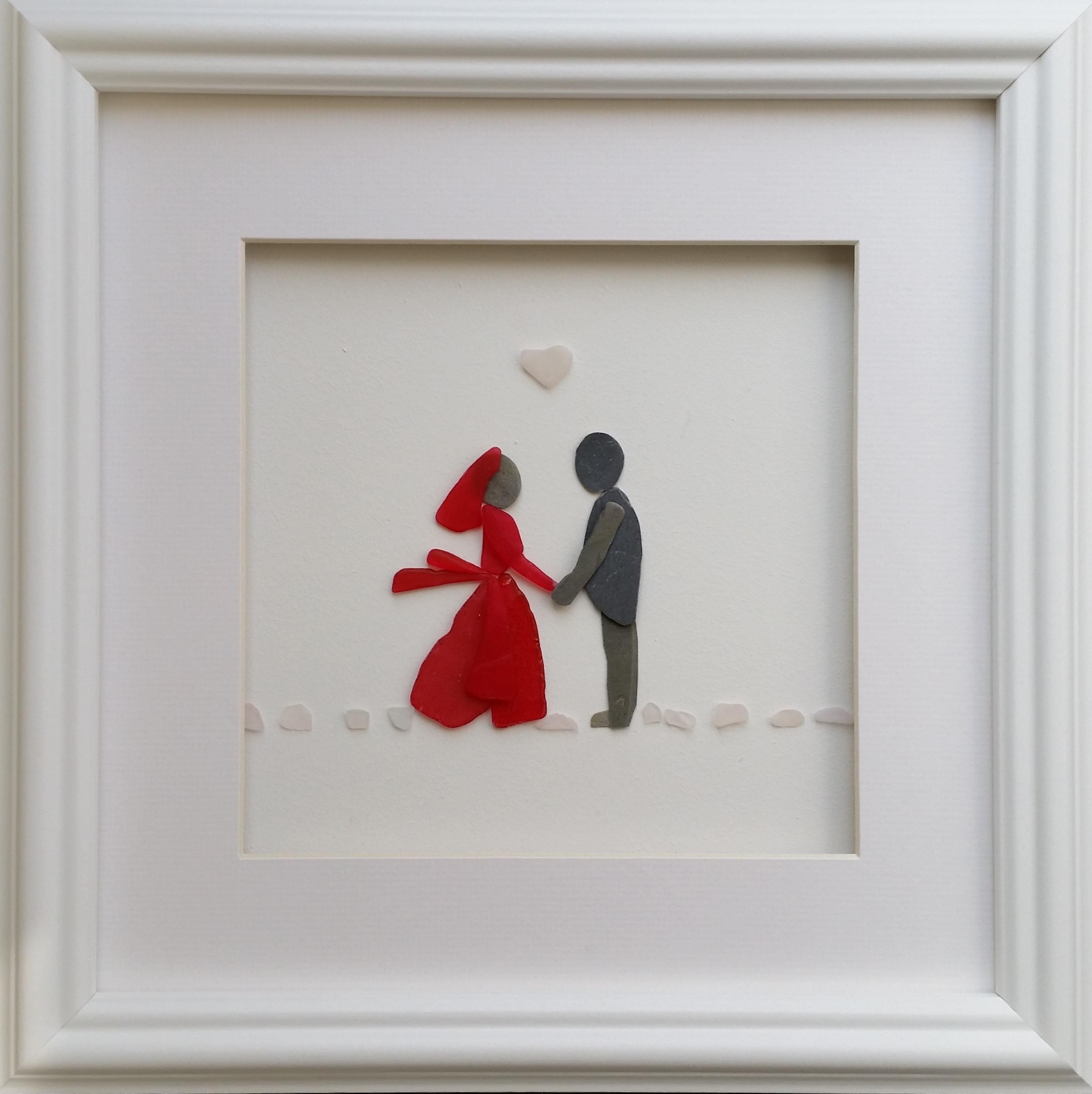 Bride & Groom in large frame
