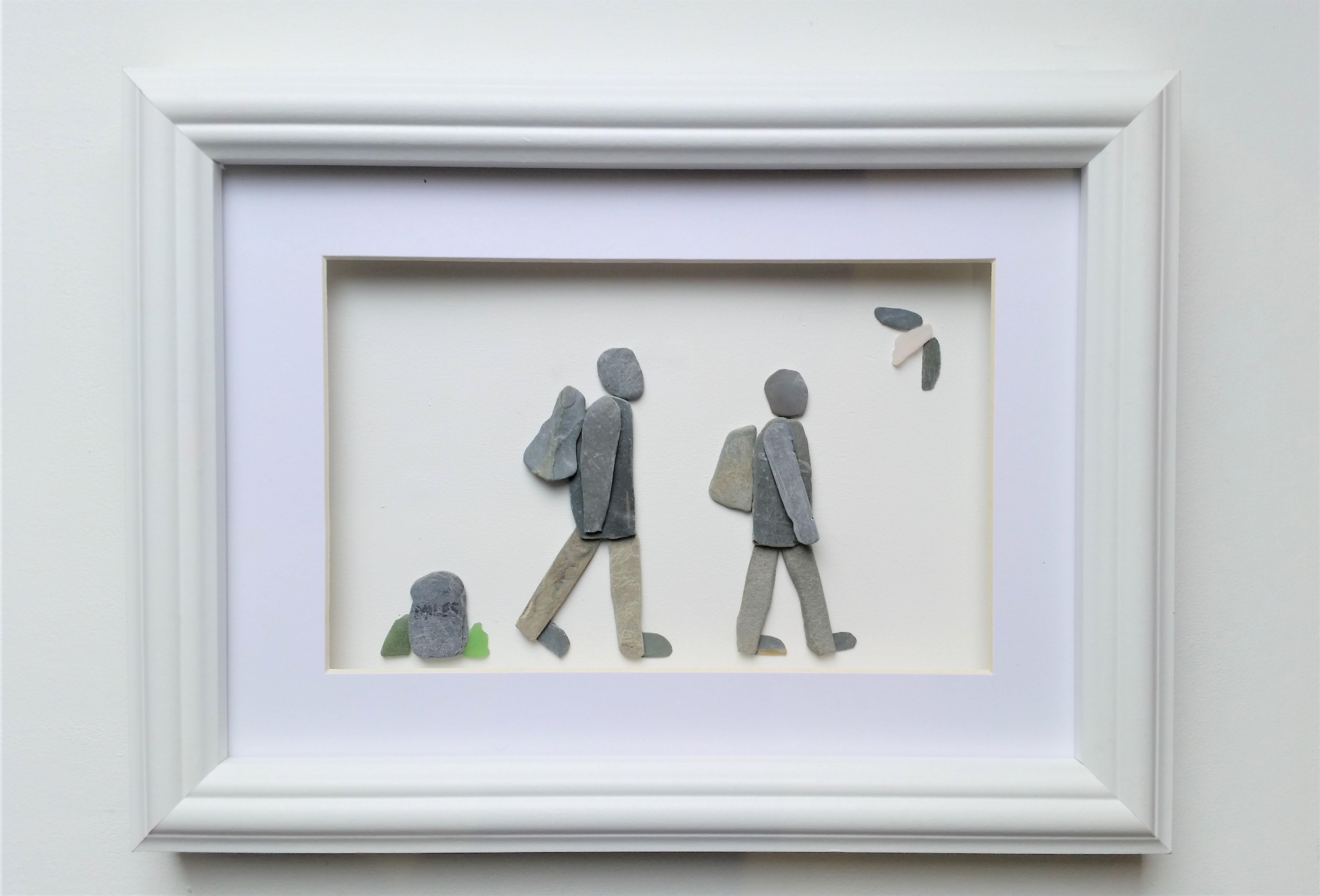 pebble art walkers
