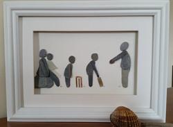Cricket Themed Family Portrait