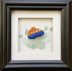 Lifeboat on Sea Glass Ocean