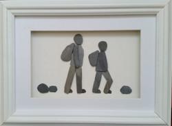 Hiking Pebble Couple