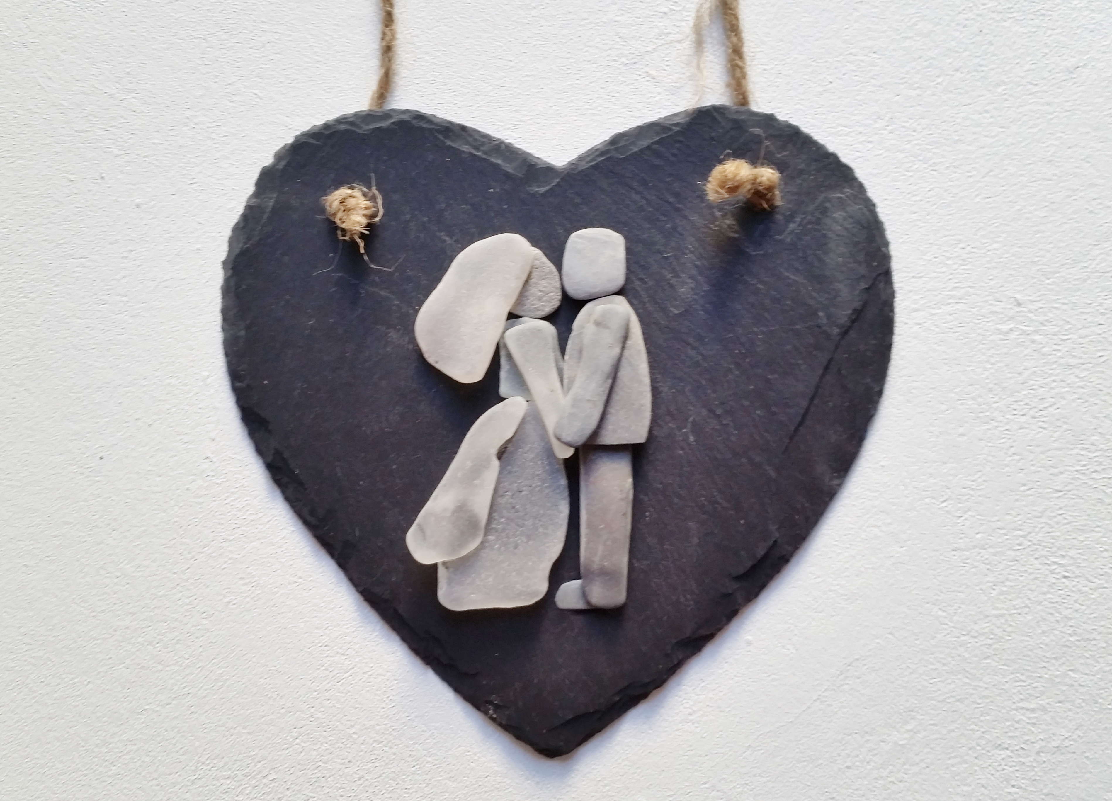 Sea Glass and Stone Bride and Groom