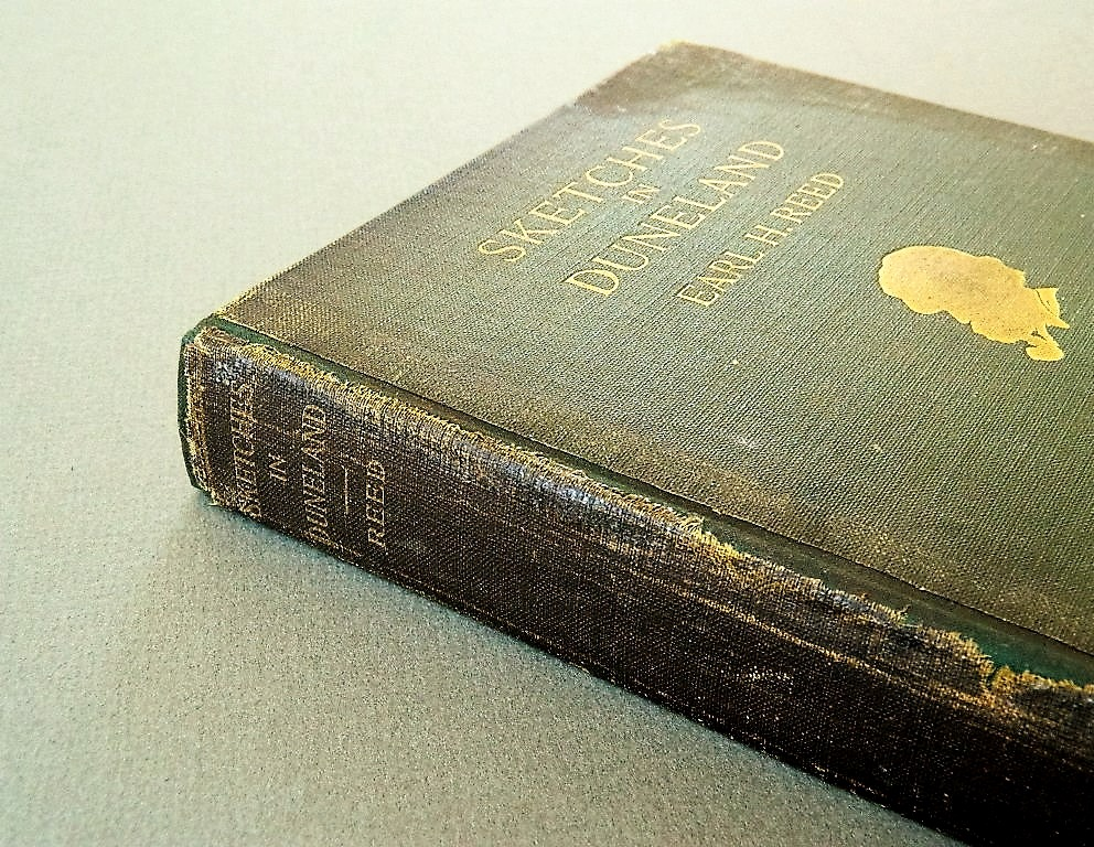 Final book repair with spine preserved
