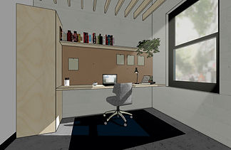 Private writer studio rendering