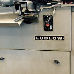 Front of a Ludlow Typograph machine