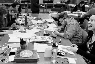bookbinding workshop, zines