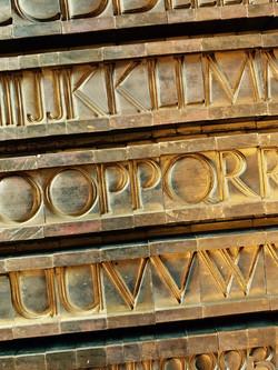 Ludlow Machine brass typographic matrices