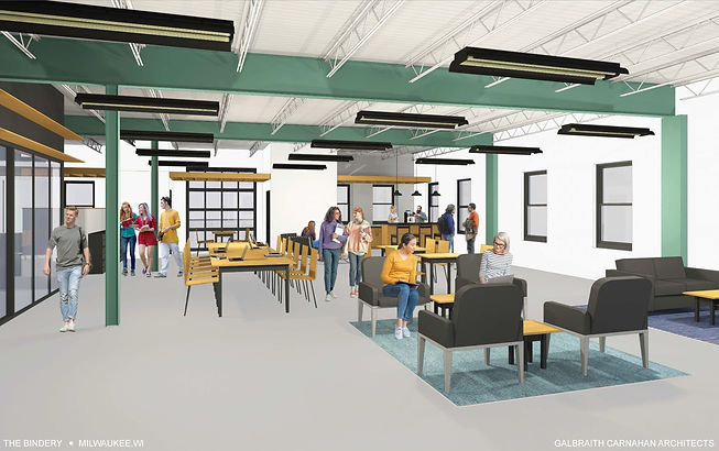 Coworking for creatives space rendering