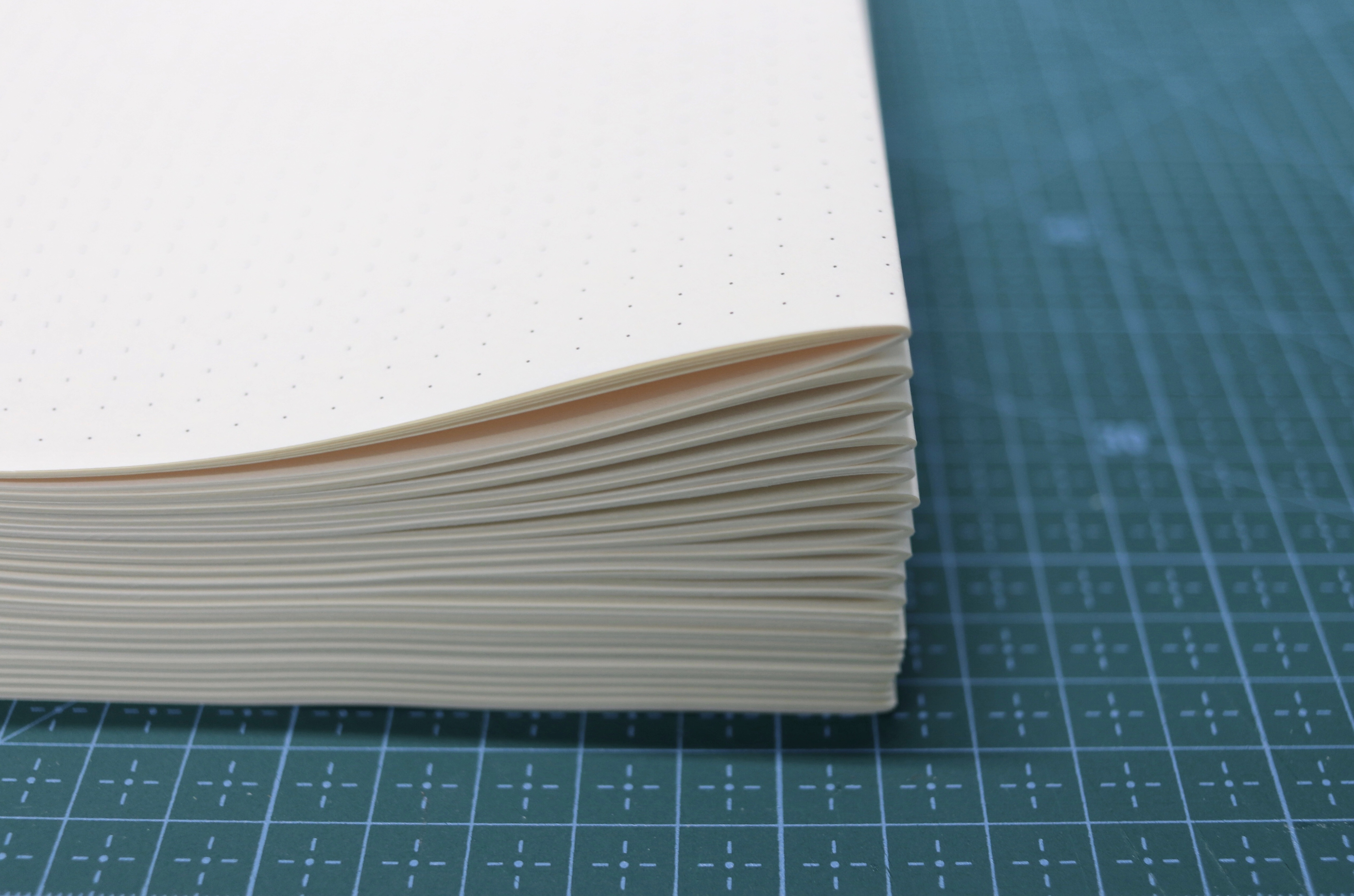 New pages in signatures ready for bookbinding