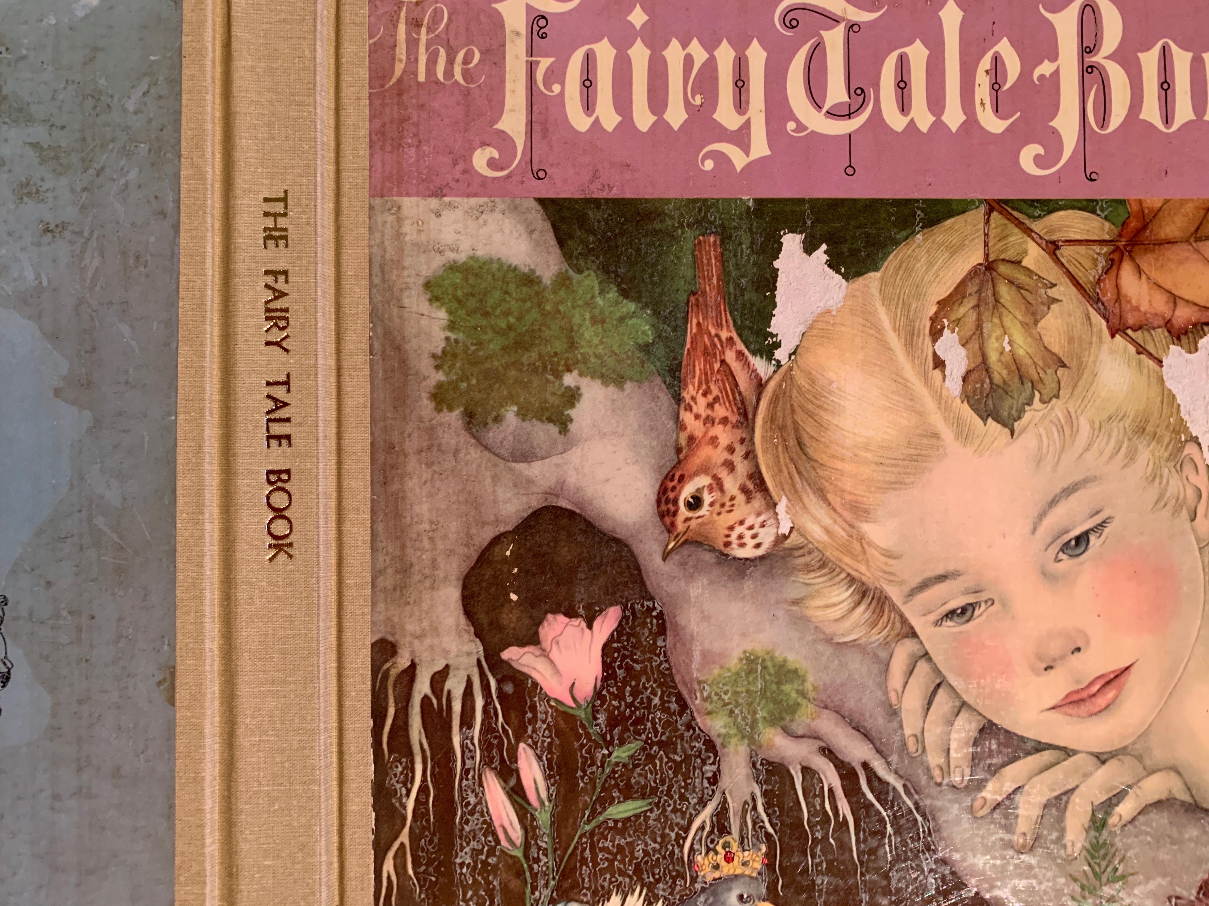 The Fairy Tale Book final gold stamping along its spine