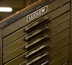 Ludlow Typograph machine cabinet (much like a letterpress cabinet)