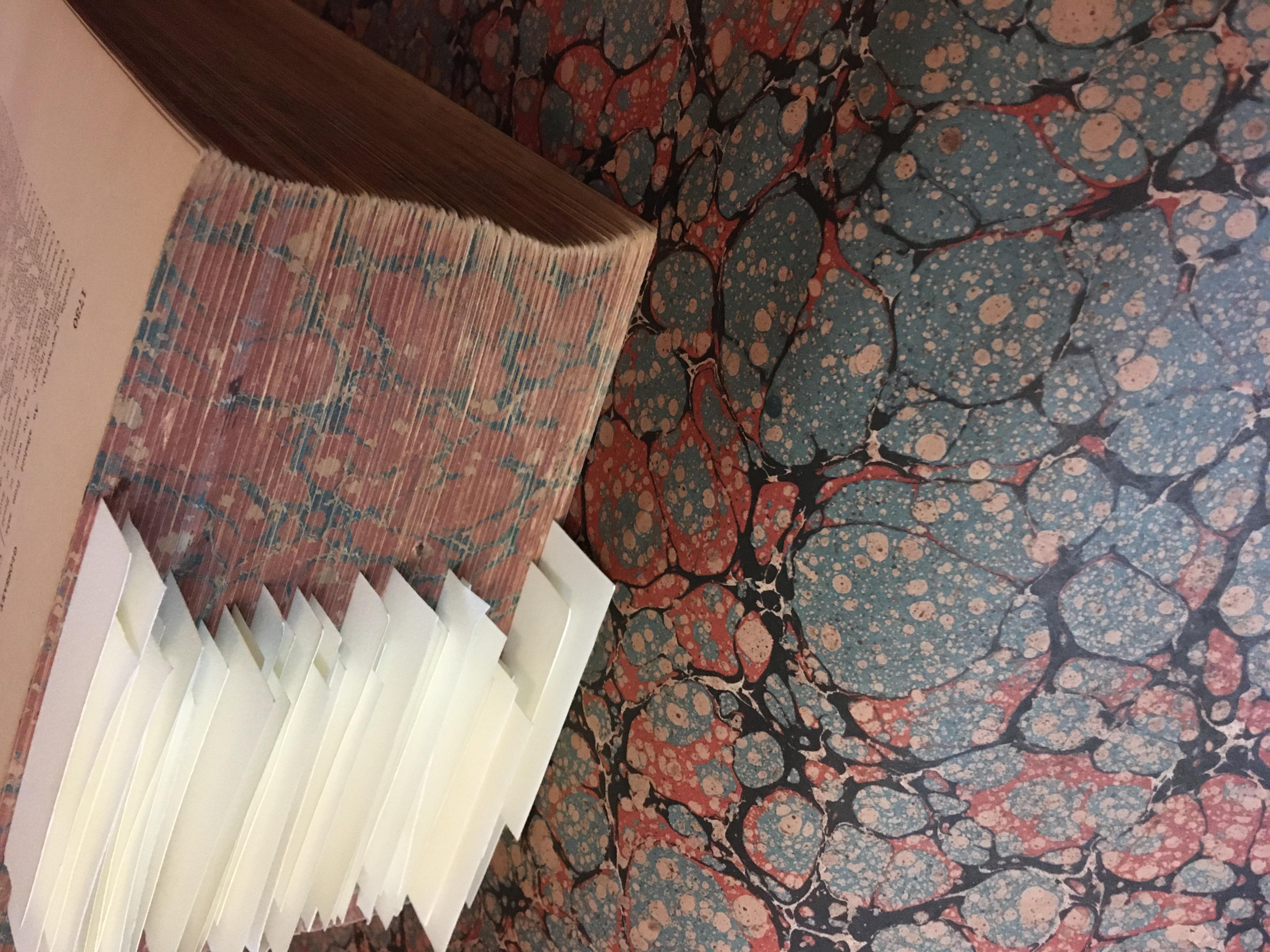Book repair in process