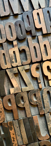 Wooden type for letterpress printing