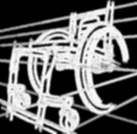 Croquis d'un fauteuil roulant