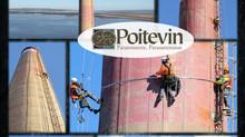 L'équipe Poitevin à 128 mètres d'hauteur!