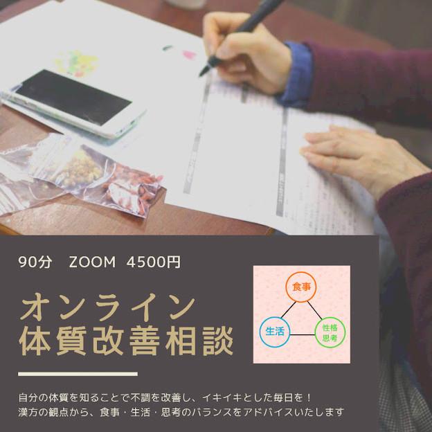 オンライン体質改善相談(マンツーマン)