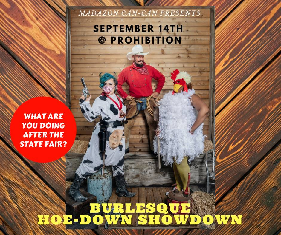 Promotional Flyer for the Hoe-Down Showdown at Prohibition, UT.