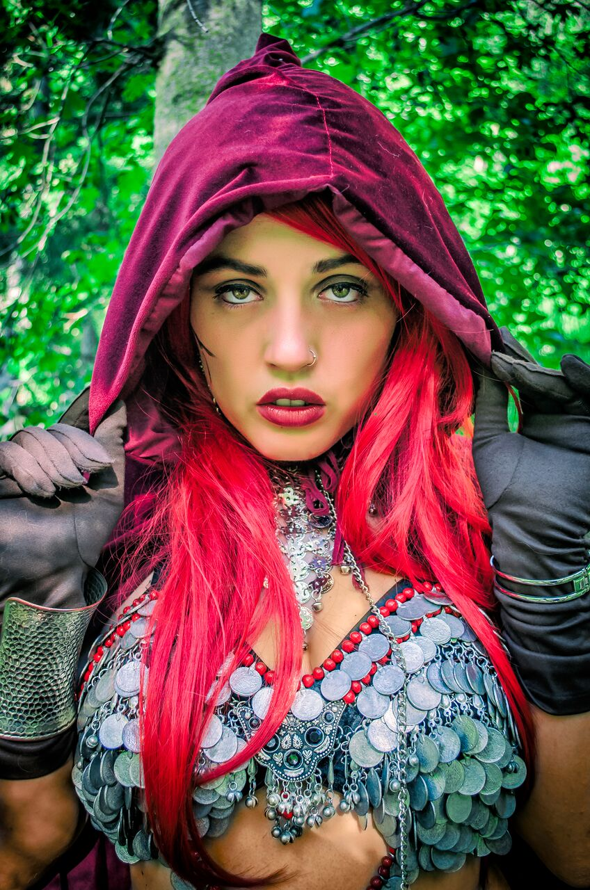 Red Sonja in the Forest