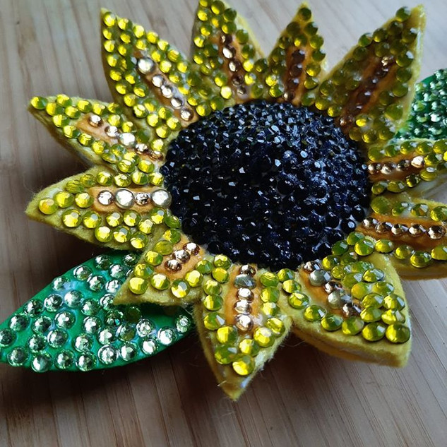 Large 3D Sunflower Pasties