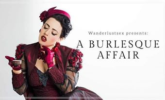 A Burlesque Affair Promotional Flyer